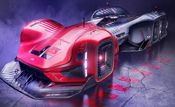 مصمم يتخيل أغرب شكل ممكن لسيارات السباق من هوندا في 2088