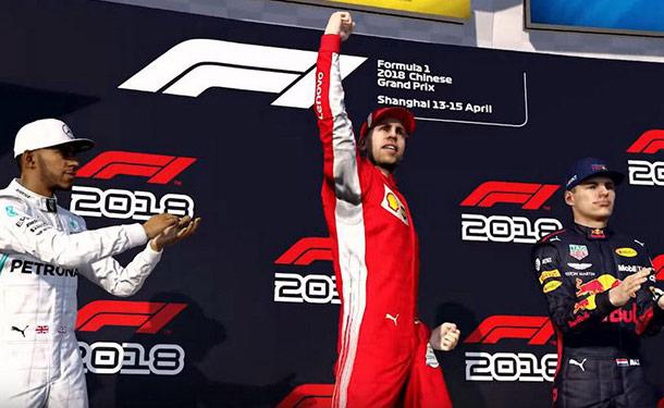 شاهد: إعلان جديد لنسخة 2018 من لعبة سباقات السيارات فورمولا 1