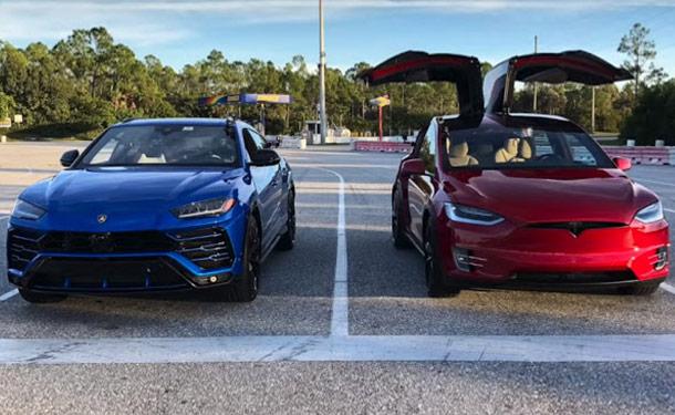 شاهد: صراع وحوش SUV.. أقوى فئات تسلا موديل X تواجه لامبورجيني أوروس