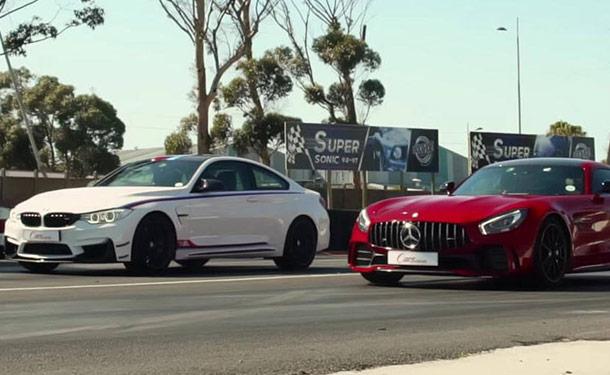 شاهد: GT R من مرسيدس-AMG في مواجهة BMW M4 DTM