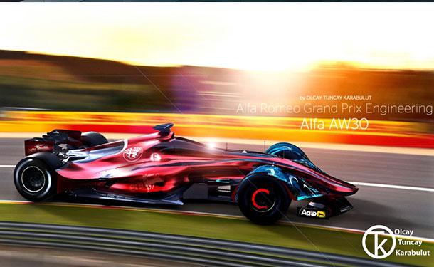 مصمم يتخيل عودة ألفا روميو لفورمولا 1 بسيارة غير تقليدية