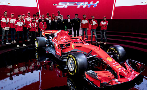 شاهد: فيراري تكشف عن سيارتها بموسم 2018 من فورمولا 1