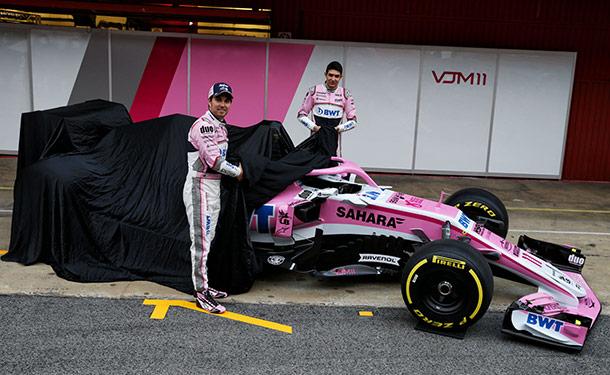 فورس انديا يكشف عن سيارته الجديدة بفورمولا 1 بلون غير متوقع