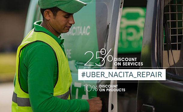 خصم 25% من ناسيتا أوتوكير بالتعاون مع أوبر على خدمات الصيانة