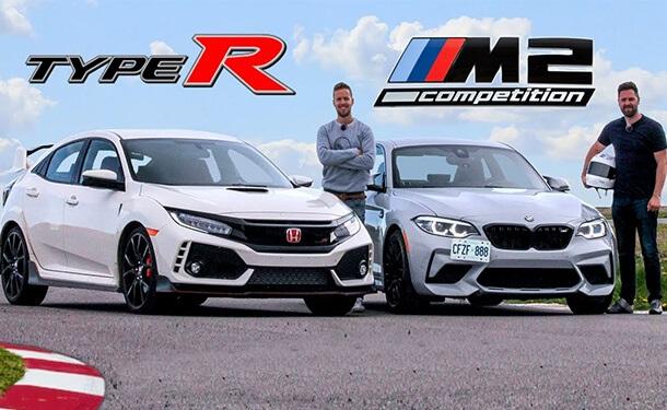 هوندا سفيك Type R تتحدى BMW M2 Competion