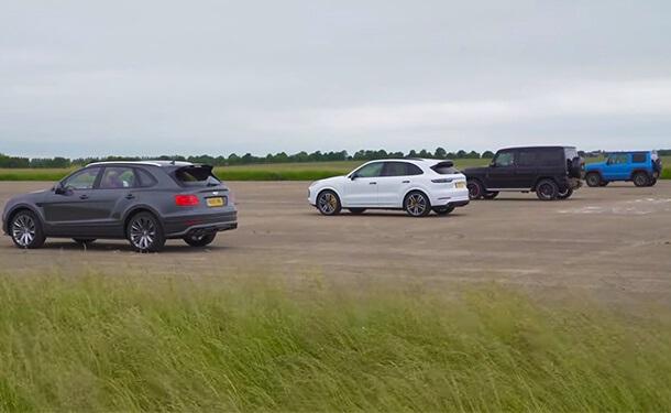 شاهد: من أسرع SUV.. بنتلي بنتايجا أم G63 من مرسيدس-AMG أم بورشه كايين تيربو أم سوزوكي جيمني