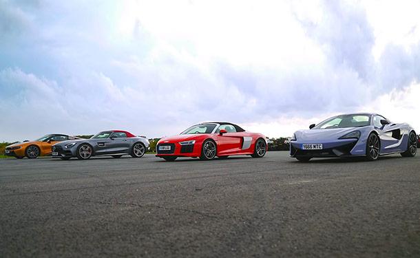 تحدى BMW i8 و أودي R8 و مكلارين 570S ومرسيدس-AMG