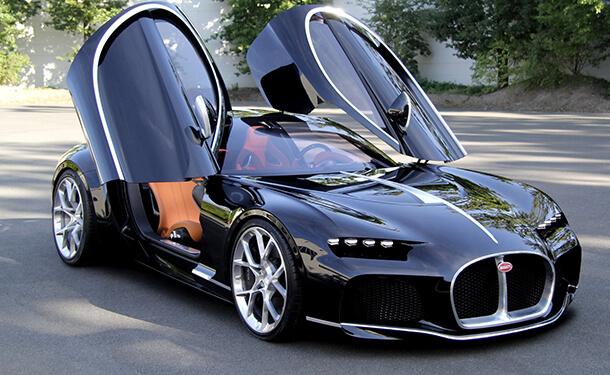 سيارة بوجاتي السرية