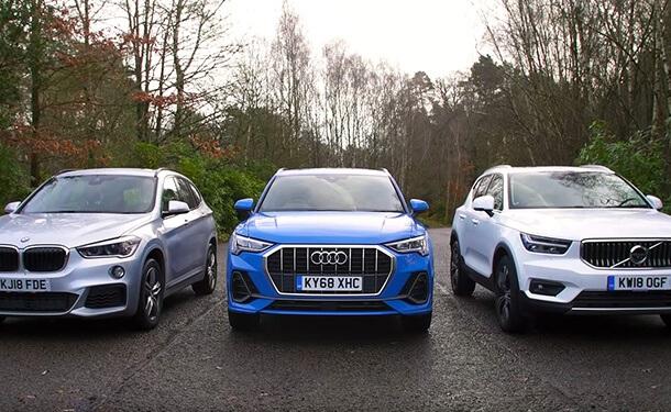 مقارنة بين BMW X1 وأودي Q3 وفولفو XC40