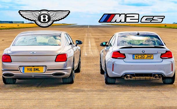 BMW M2 CS وبنتلي فلاينج سبور