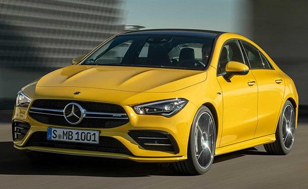 سياره-مرسيدس-2020-جديد-اصفر