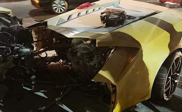سياره-لامبورجيني-حادث-طريق-السويس-خارقه