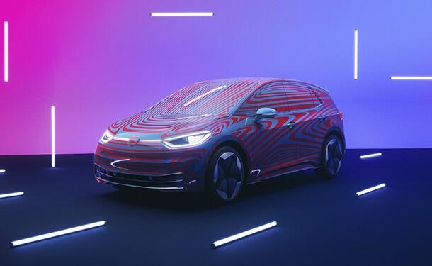 سياره-فولكس-فاجن-كهربائيه