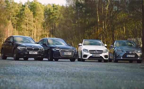 مقارنة ببين سيارات مرسيدس-بنز ولكزس وأودي وبي ام دبليو